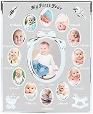 Moldura para fotos do primeiro ano do bebê Tiny Ideas, primeiro ano por mês, registro de bebê recém-nascido, p