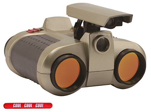Childrens Gold Binocular Set with Pop Up Night Vision with COOL Slapstick (Lens Gold Spy)
