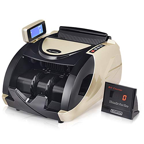 - Goplus Money Counter Worldwide Currency Cash Bill Counting Machine Detector W/UV & MG Counterfeit Bill Detection (Black with Rotatable LED Display)