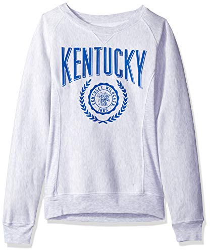 J America NCAA Kentucky Wildcats Womens NCAA Women's Crew Neck Team Sweatshirt, Small, Light Heather