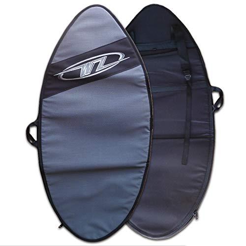 Wave Zone Skimboards Backpack Style Bag - Travel or Day Use - Padded - Silver - 2 Sizes (Medium)