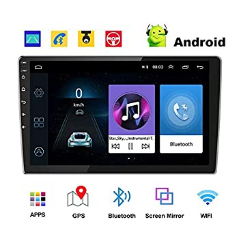 Image of In-Dash Navigation Android Car Radio 9 Inch Touch Screen GPS Sat Navi Stereo Player AMprime 2 Din Bluetooth WiFi FM Receiver Mobile Phone Mirror Link Dual USB