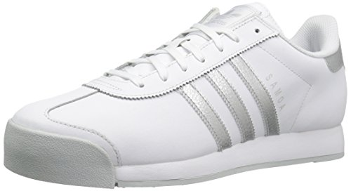 adidas Originals Men's Samoa Retro Sneaker,White/Metallic Silver/Light Grey,(11.5 M - World Market Online Outlet