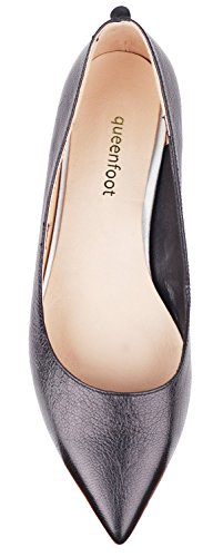 A Pump6002 Mocassins Pour Queenfoot Leather Femme black Wp6qnnP4