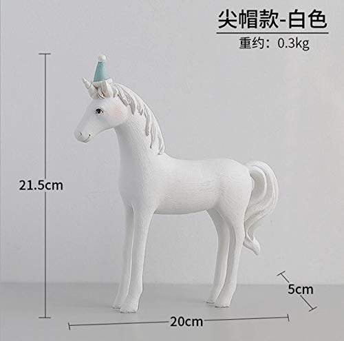 C Zamtac Nordic Creative Horse Decoration Resin Horse Shape Decor Resin Desk Decor Mix Design Home&Garden Decor Artifical Desk Decor - (color  E)