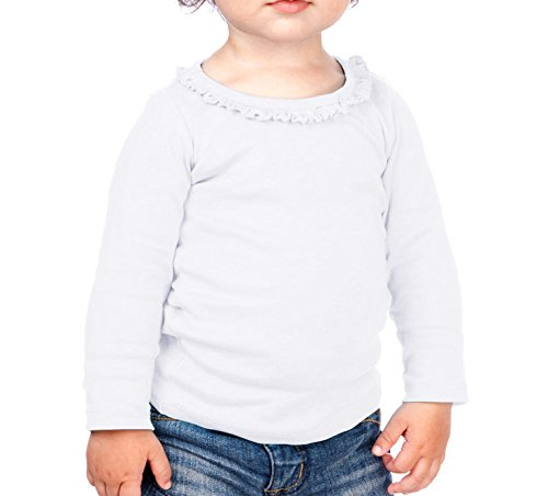 Kavio! Infants Sunflower Long Sleeve Top White 24M
