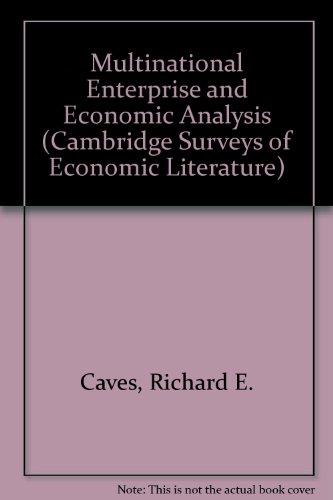 Multinational Enterprise and Economic Analysis (Cambridge Surveys of Economic Literature)