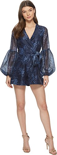 Keepsake The Label Women's Stand Tall Playsuit Navy Stencil Floral MD (US 4-6) by Keepsake The Label