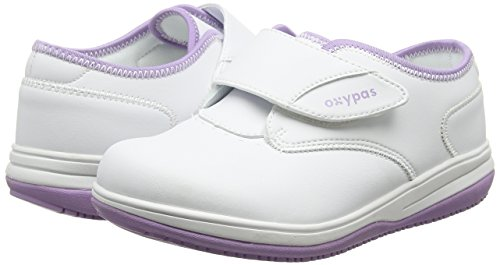 Oxypas Medilogic Emily Slip-resistant, Antistatic Nursing Shoe, White (Lic), 4 UK (37 EU)