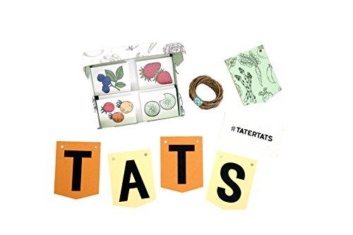 Tater Tats Pop-Up Tattoo Parlor: 100 Temporary Vegetable Tattoos by Tater Tats (Image #1)