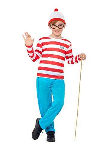 Smiffys Where's Wally Childrens Fancy Dress Costume - Small, 128 cm, Age ()