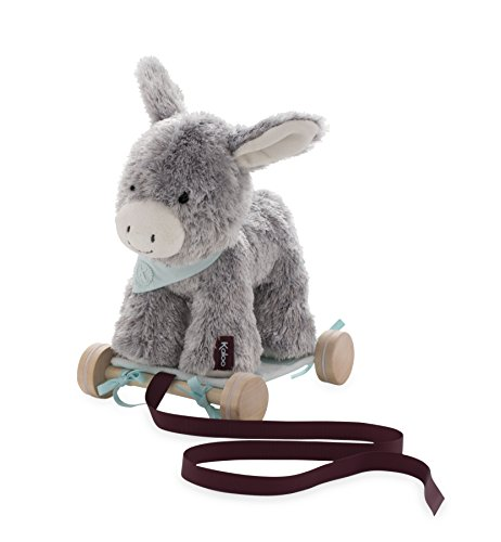 - Kaloo Les Amis 2-in-1 Pull Along Donkey-Grey Plush