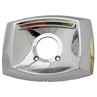LASCO-Simpatico 31644C Delta Rectangle Shaped Shower Escutcheon Only for Shower Valve, Chrome Plated