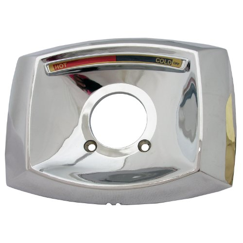 - Simpatico 31644C Delta Rectangle Shaped Shower Escutcheon Only For Shower Valve, Chrome Plated