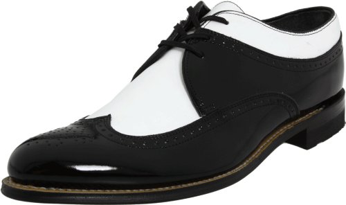 Stacy Adams Men's Dayton Wing-Tip Oxford,Black/White,12 D (Black And White Stacy Adams Shoes)