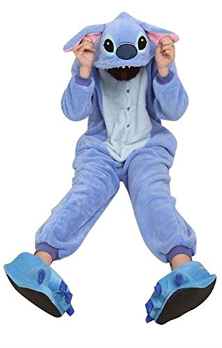 [YiTao Deal Anime Pokemon Pikachu Romper Pajamas Costume Cosplay Outfit Size S-Blue Stitch] (Stitch Costumes Adults)