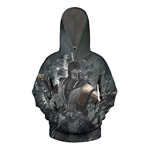 Mortal Kombat X METAL SEAL Game Logo Licensed Adult Sweatshirt Hoodie