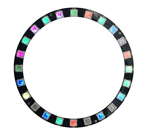 Excelity RGB LED Pixel Ring, 24Pcs RGB 5050-Leds, Built-in IC WS2812B Adressable, Full Color RGB LED