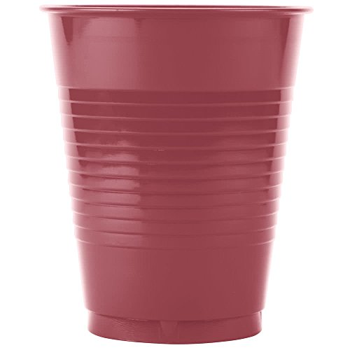 318883 16 oz. Fresh Mint Green Plastic Cup - 20/Pack By TableTop King