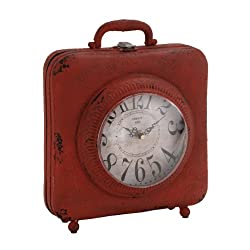 Plutus Brands Antique Styled Fascinating Metal Table Clock