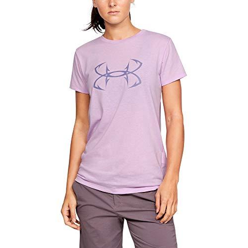 - Under Armour Women's Fish Hook Logo Tee (Purple Ace (543)/Purple Luxe, Medium)