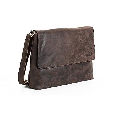 314f6ec017 free shipping Woodland Leather Landscape Flap Over Messenger Bag 16