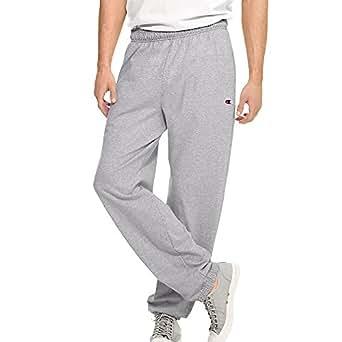 Hanes P7310 Mens Closed Bottom Jersey Pants, Oxford Grey - Medium