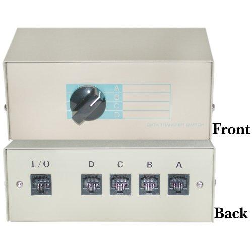 C&E 40R2-01604 ABCD 4 Way Switch Box, RJ45 Female