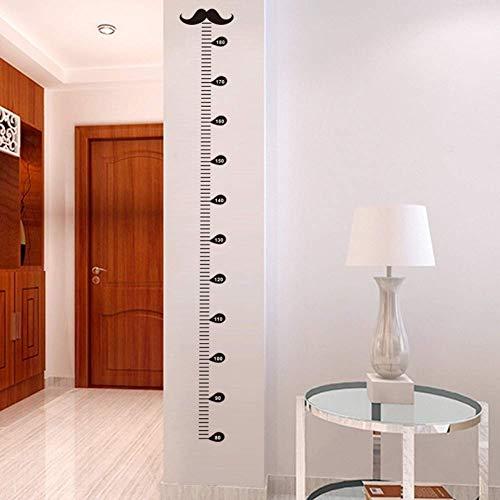 Leguliya Moustache Growth Chart Decorative Wall Stickers Art
