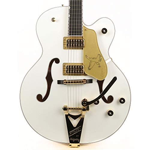Gretsch G6136T-WHT Players Edition White Falcon Hollow Body Electric Guitar with String-Thru Bigsby (SN:JT15103245)