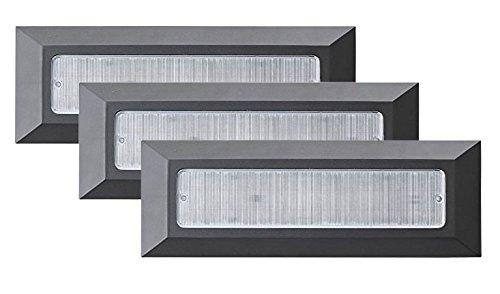 Stufenlicht Led 3 x modern led treppen licht garten leuchte stufenlicht led