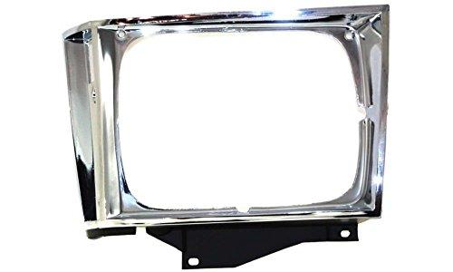 Evan-Fischer EVA18972010842 Headlight Door for Chevrolet S10 Pickup 82-90 LH Chrome Left Side Replaces Partslink# GM2512121