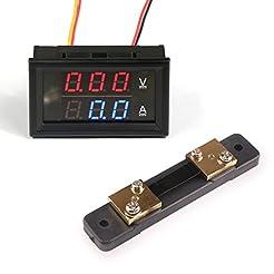 DROK Digital LED Current Voltage Measure...