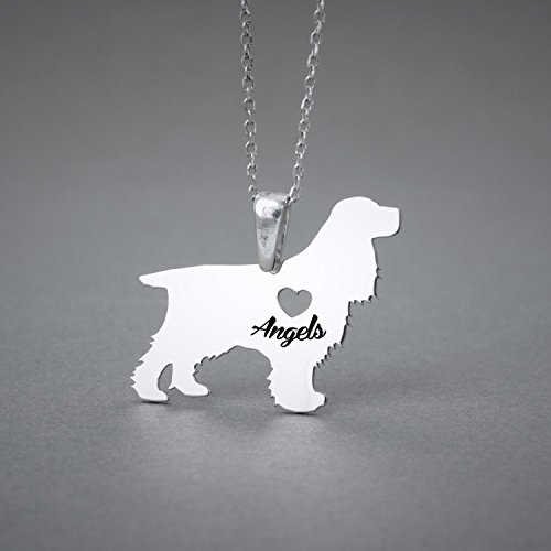 Personalised Cocker Spaniel Necklace - Cocker Name Jewelry - Dog Jewelry - Dog breed Necklace - Dog Necklaces