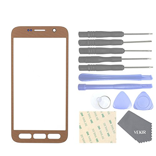 VEKIR Glass Lens Screen Replacement for Samsung Galaxy S7 Active AT&T G891 G891A(Gold)