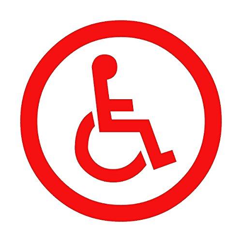 Wild Dingos LLC Handicap Symbol LRG Business Vinyl Decal Sticker Red