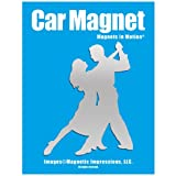 Ballroom Dancers Car Magnet Chrome