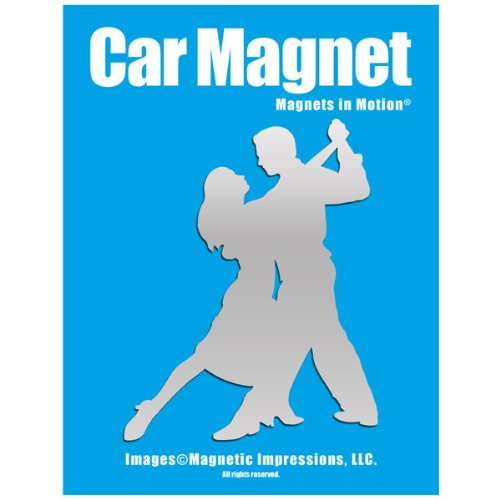 Ballroom Dancers Car Magnet Chrome (Magnet Dance)