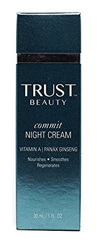 Night Cream Moisturizer by TRUST Beauty with Vitamin A Panax Ginseng for Women and Men 1oz – All Natural Anti Aging Facial Face Firming Cream to Help Reduce Wrinkles And Add Radiance to Skin