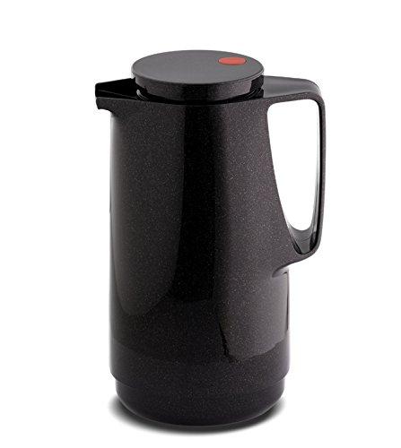 Rotpunkt Isolierkanne 760 1, 0 l | (Sparkling Black) schwarz Doppelwandige Vakuumisolierung | Zweifunktions-Drehverschluss | BPA Frei- gesundes Trinken | Made in Germany