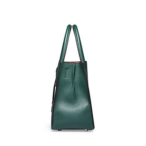 Pockets Dissa Q0871a Leather Green Bag Handbags Multiple Women Soft Shoulder wCXCH6fq
