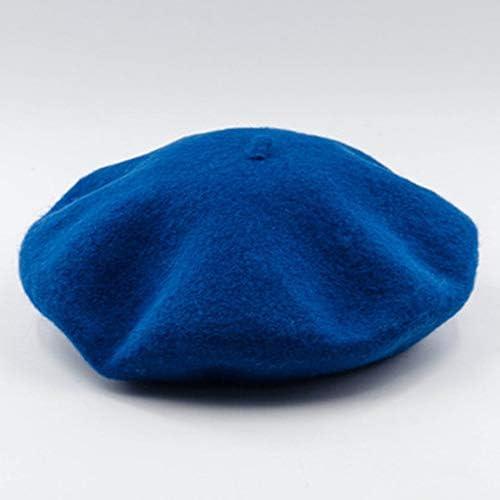 Jullyelegant B/éret dhiver en Laine /à Croquis Cap Sen Chapeau Femme Litt/éraire en Laine B/éret dartiste Chapeau Chapeau Fran/çais Casual Chapeau Hiver pour Femme Bleu Paon