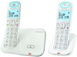 Alcatel Versatis XL350 Version Duo - 2 teléfonos fijos digitales inalámbricos, color blanco (importado)