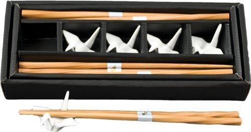 JapanBargain Porcelain Crane rest (Gift Set-White) ()