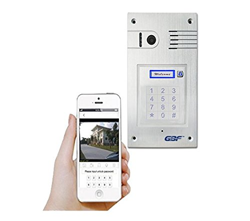 GBF WiFi IP Doorbell/Door Phone, Wireless Intercom, Flush Mount, Night Vision, Weatherproof