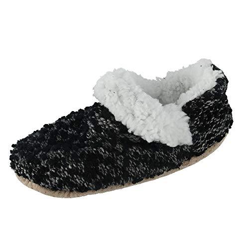 Slipper Women's Black Heathered Knit CTM gqxwx