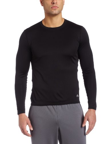 Hot Chillys Men's Peach Crewneck Tee (Black, ()