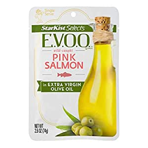 StarKist Selects EVOO Wild-Caught Pink Salmon - 2 6oz Pouch (Pack of 12)