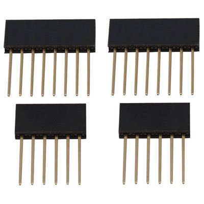 Arduino A000040 Stackable Female Header for Shields - 1x8 and 1x6 Position, 23 mm H(Pack of 3)