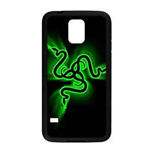 Custom for Samsung Galaxy S5 Cell Phone Case Black Razer Logo HKJGAFGLO2790